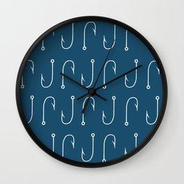 Hooks Navy Wall Clock