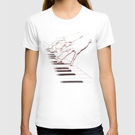 Piano hands T-shirt