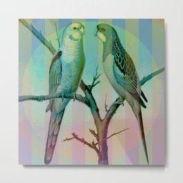2 Pretty Parrots Metal Print