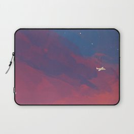 A Lone Flight Amongst The Pastel Unknown. Laptop Sleeve