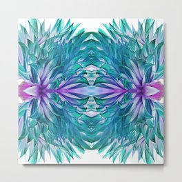 Abstract Flower Design 627 Metal Print