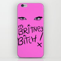 britney spears iPhone & iPod Skins featuring Britney Spears Eyes by Alli Vanes