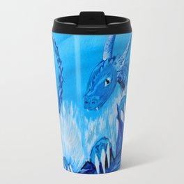 Ice Cavern Dragon Travel Mug
