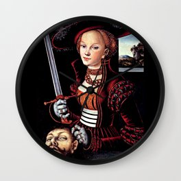 Judith with the Head of Holofernes Wall Clock