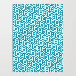 Modern Hive Geometric Repeat Pattern Poster