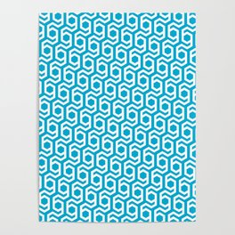 Modern Hive Geometric Repeat Pattern Poster