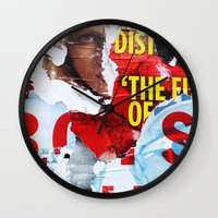 watchmen Wall Clocks featuring Who Watches The Watchmen? by Joel Lambeth