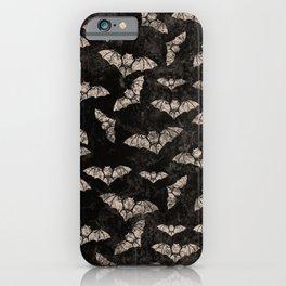 Vintage Halloween Bat pattern iPhone Case