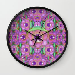 lotus plants outside the temple  pop art Wall Clock