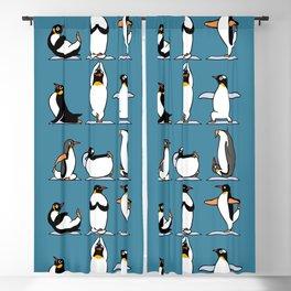 Penguin Yoga Blackout Curtain