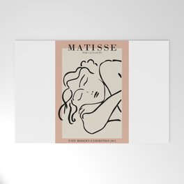 Henri matisse sleeping woman, matisse cut outs, cream and pink Welcome Mat