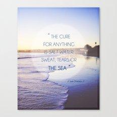 Salt Water Quote, Ocean Photography Canvas Print