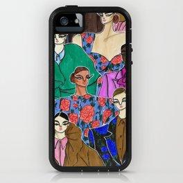 Delpozo Girls in Fall 2019 – Original Fashion art, Fashion Illustration, Fashion wall art iPhone Case