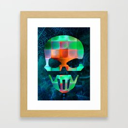 CHECKED DESIGN II - SKULL Framed Art Print