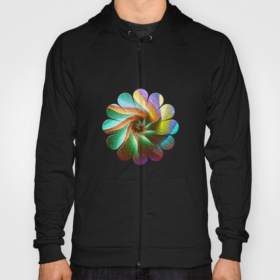Colorful Spiral Flower Hoody