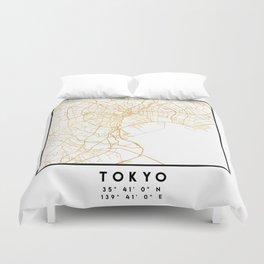 TOKYO JAPAN CITY STREET MAP ART Duvet Cover