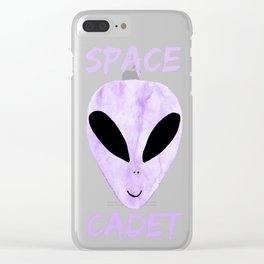 Violet Space Cadet Clear iPhone Case