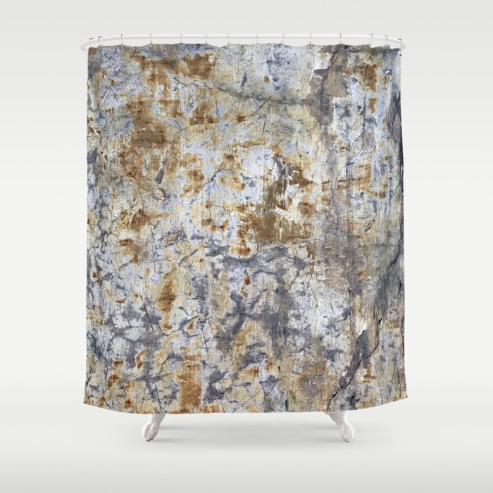 Yellow Painted Wall Warm Shower Curtain