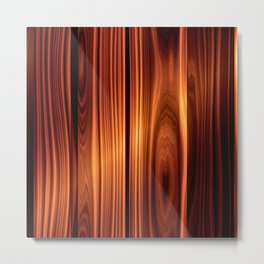colorful wood texture varnished wood                                    Metal Print