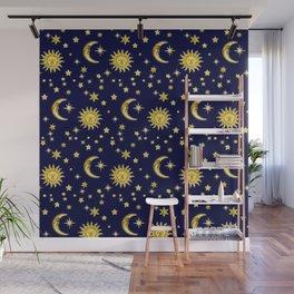 Sun, Moon & Stars Wall Mural