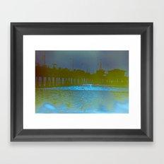 Santa Monica Pier. Framed Art Print
