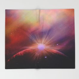 Mars rises Throw Blanket