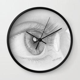 Eye art, Black and White, Pencil drawing, Fine art prints, Prints illustrations Wall Clock