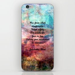Challenging Fear Rumi Uplifting Quote With Beautiful Underwater Painting iPhone Skin