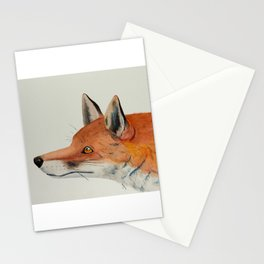 Red fox portrait Stationery Cards