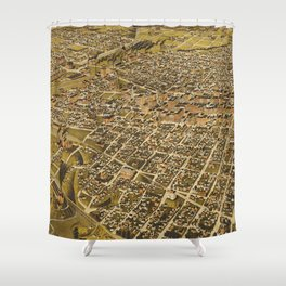 Vintage Pictorial Map of Fort Worth TX (1891) Shower Curtain