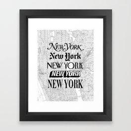 New York City black and white New York poster I love heart NYC Design black-white home wall decor Framed Art Print