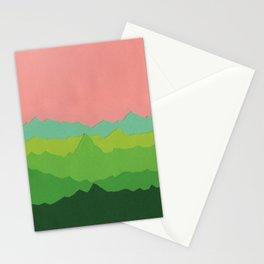 Green Mountains I Stationery Cards