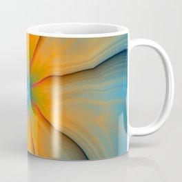 Cracked in Blue Orange and Green Coffee Mug