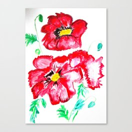 Poppy in the sun Canvas Print