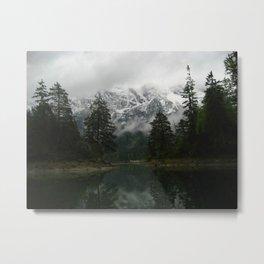 A Peek of Mountains Metal Print