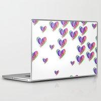 tetris Laptop & iPad Skins featuring Love Tetris by Len Tierra