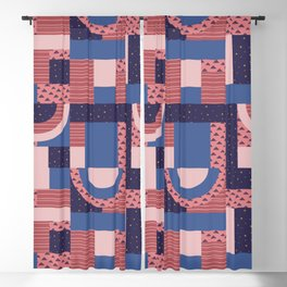 Unconventional Xmas Quilt #socety6 #pattern Blackout Curtain