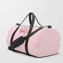 Flamingo with Flowers Crown Duffle Bag