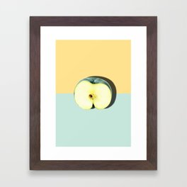 Tropical Fruit. Apple Half Slice. Pastel Framed Art Print
