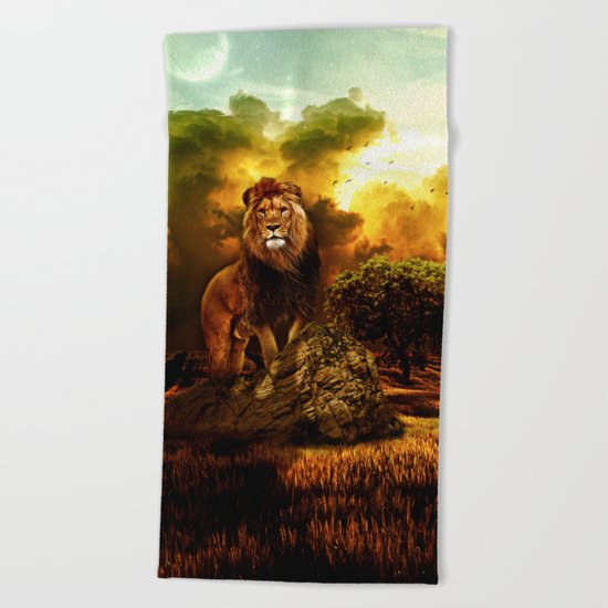 Lion V Beach Towel