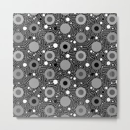 Migraine - Monotone Metal Print