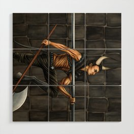 Pole Creatures: Minotaur Wood Wall Art