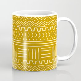 Mud Cloth on Mustard Coffee Mug