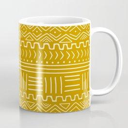 Mud Cloth on Mustard Coffee Mug