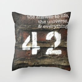 42 - The Meaning of Life. Throw Pillow