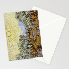 Vincent van Gogh - Olive Trees with Yellow Sky and Sun Stationery Cards