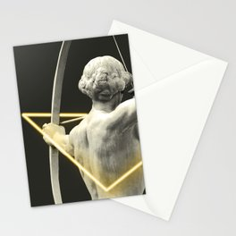 Artemis yellow neon Stationery Cards