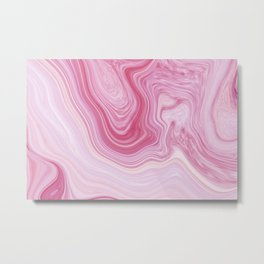 Blush Pink Marble Metal Print