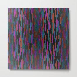 Zipper Pattern No. 4 Metal Print