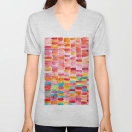 Watercolor Strokes Unisex V-Neck